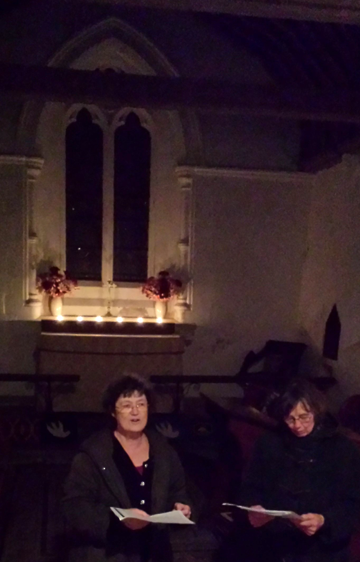 candlelit advent at Binsted