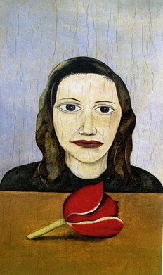 Lorna Wishart model for Woman with a Tulip by Lucian Freud